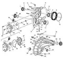 nv263 transfer case rebuild kit and parts illustration