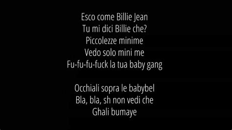 canzone rap testo ghali dende testo