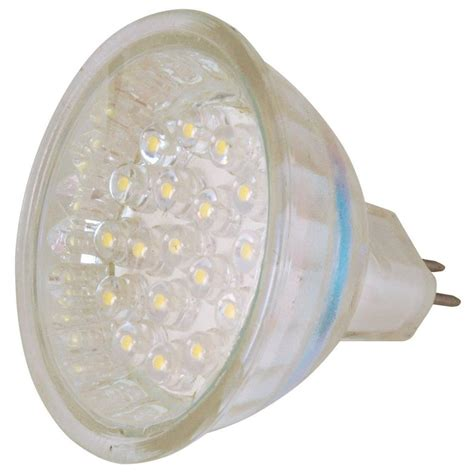 Landscape Lighting Bulbs Moonrays Clear Glass Low Voltage 1 8 Watt Mr 16 Led Landscape Lighting Replacement Bulb 95553
