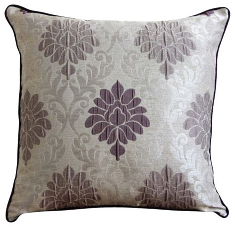 Lavender Decorative Pillows by Lavender Damask Throw Pillow Cover 14x14 Traditional