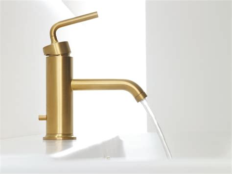 brushed gold bathroom faucet trends with images