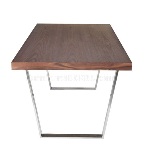 modern dining table legs walnut espresso or white modern dining table w metal legs