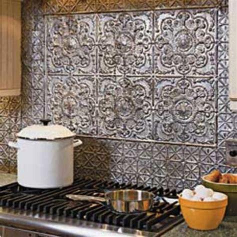 aluminum backsplash kitchen how to take care of tin backsplash for kitchens