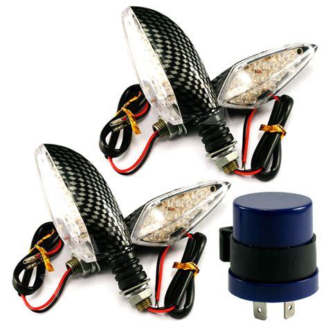 motorcycle led indicator circuit 2 pairs 12v 16 led motorcycle turn signal indicator light flasher relay kit au ebay