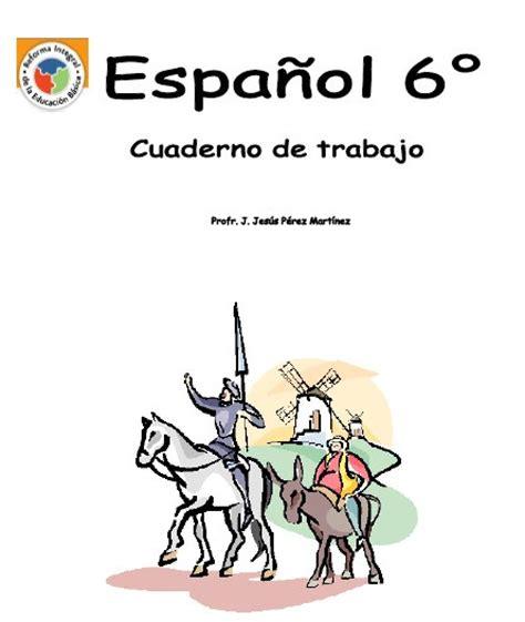 caratulas para 6 grado cuaderno de trabajo de espa 241 ol de 6 176 de primaria