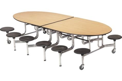 Cafeteria Tables With Stools by Amtab Mobile Oval Stool Cafeteria Tables Cafeteria Tables