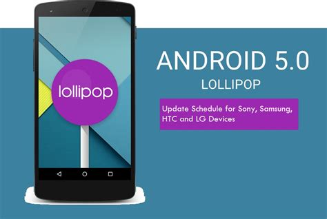 android 5 0 update android 5 0 lollipop update schedule for samsung sony htc lg smartphones tablets