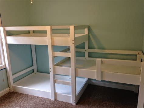 build a bunk bed somehow it all came together the great triple bunk bed build