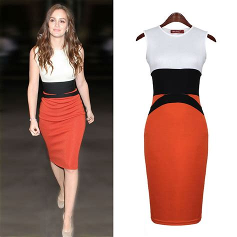 plus size dresses celebrity stitching midi evening dress