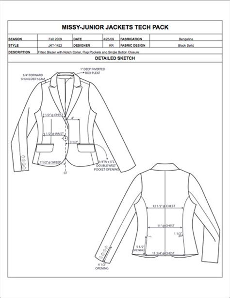 Clothing Tech Pack Template Fashion Apparel Tech Pack Templates My Practical Skills My Practical Skills