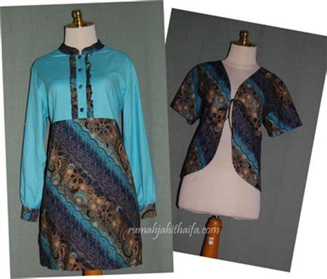 Baju Blouse Blus Katun Nov bolero batik rumah jahit haifa