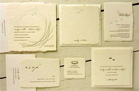 Wedding Invitations Recycled Paper by Green Wedding Guide Invitations Inhabitat Green