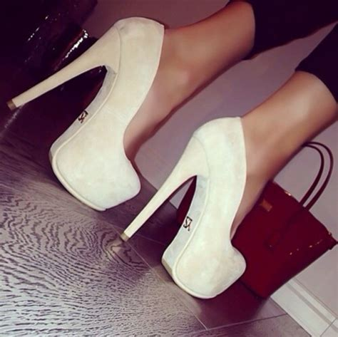 Chanel Suede Heels shoes high heels chanel suede heels beige hott bag