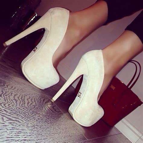 chanel high heels shoes high heels chanel suede heels beige hott bag