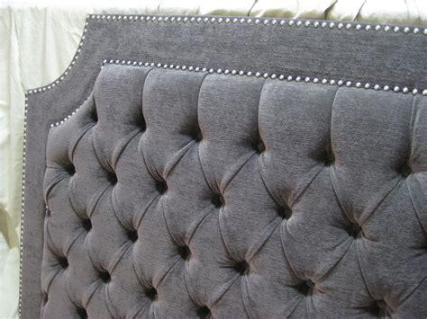 light grey tufted headboard gray tufted upholstered headboard with nickel nailheads