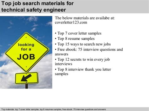 Technical Safety Engineer Cover Letter by Technical Safety Engineer Cover Letter