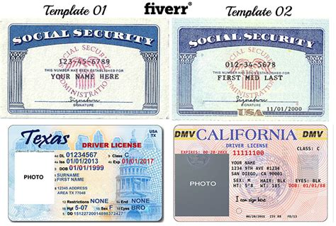 make a novelty social security card or driver licenses