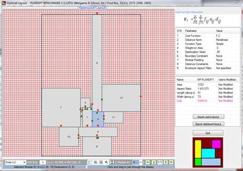 layout optimization software engineering optimization software vip planopt details