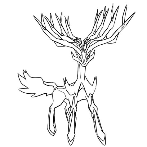 pages xerneas 81 coloring pages xerneas chibi