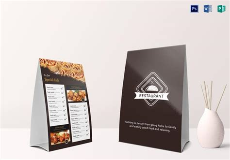 menu tent card template 35 beautiful restaurant menu designs inspirationfeed