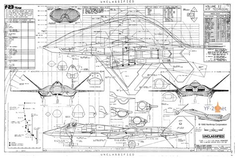 aircraft layout and detail design northrop f 23a emd proposal f 23 production variant