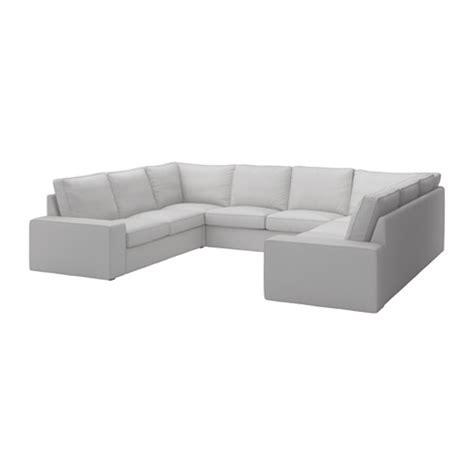 8 Seat Sectional Sofa Kivik Sofa U Shaped 8 Seater Orrsta Light Gray Ikea