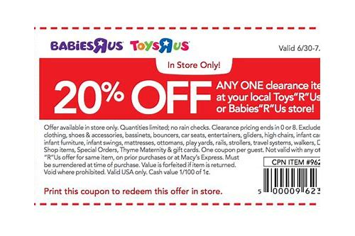 2018 babies r us printable coupons