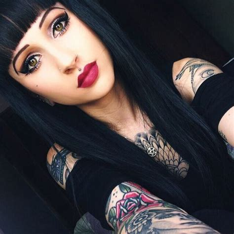 yahoo tattoo girl 363 best images about inked glamour on pinterest hot