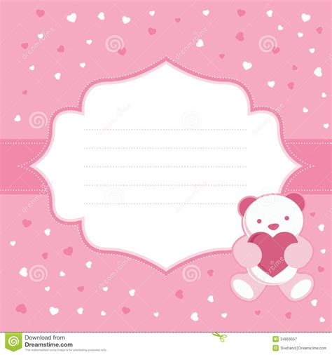 You And Me Pacifier Clip Mickey Happy pink greeting card with teddy for baby royalty