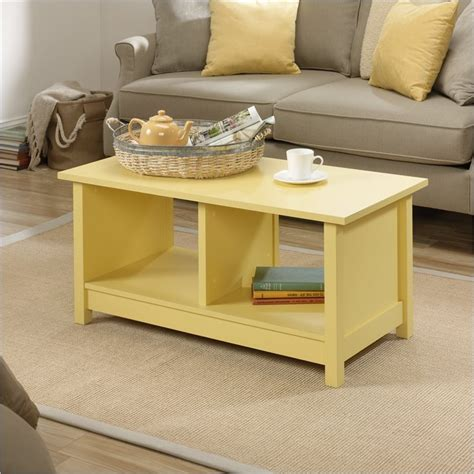 pretty tables pretty cottage coffee table on original cottage coffee table in melon yellow by sauder cottage