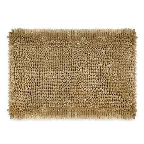 butter rug buy butter chenille 17 inch x 24 inch bath rug in linen from bed bath beyond
