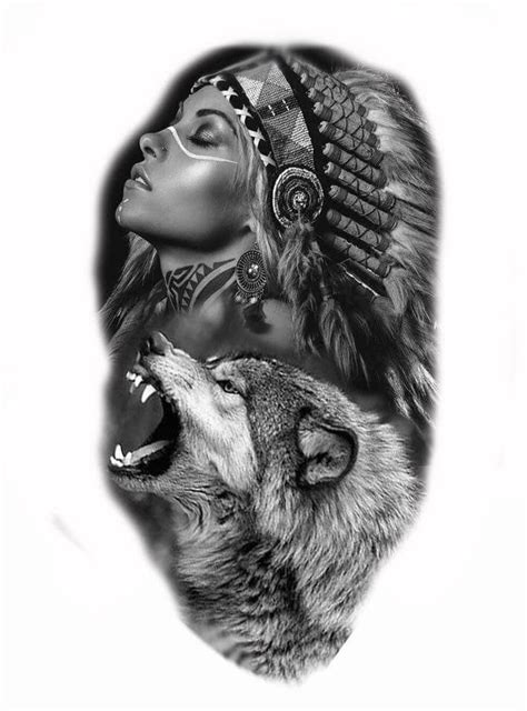 indian wolf tattoo designs pin by ondřej koř 237 nek on tetov 225 n 237 wolf