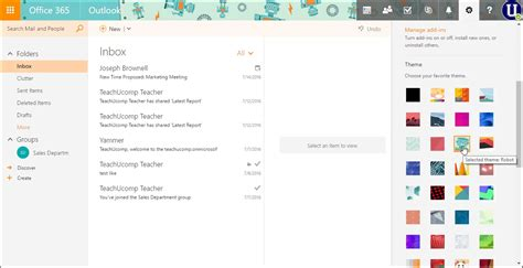 themes in microsoft outlook change the theme in outlook on the web instructions