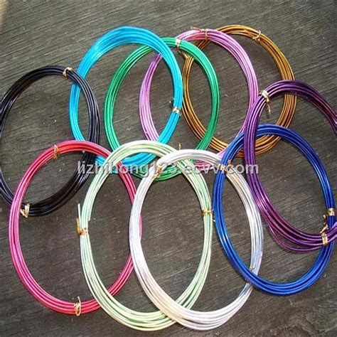 colored craft aluminum wire colored aluminum for jewelry