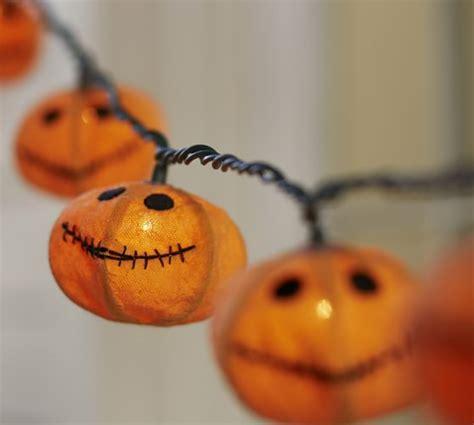 halloween pumpkin string lights jack o lantern burlap string lights pottery barn