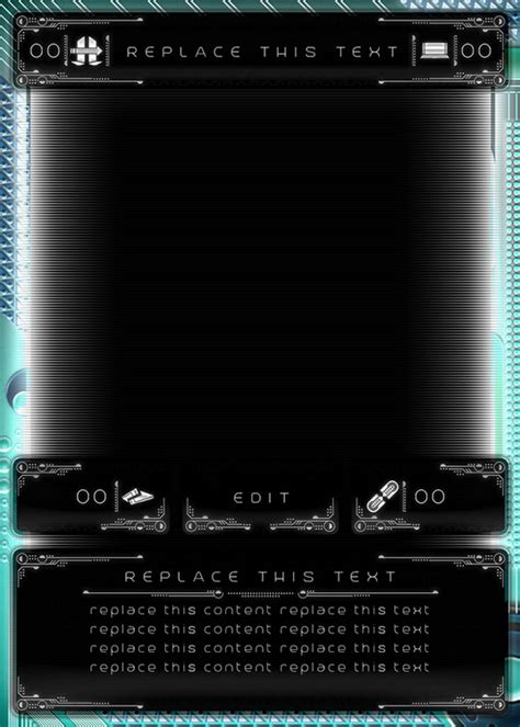 sci fi card frame template sci fi card template exle 01 front by unknowndepths