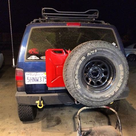 jeep gas can rack reciever mount tire gas can rack jeep cherokee forum