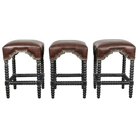 style bar stools set of three at 1stdibs