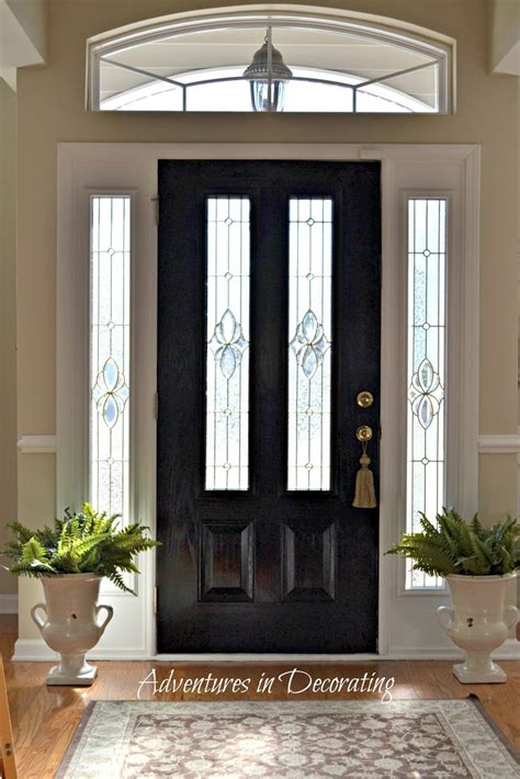 black front door paint the front door black for a little bit of drama