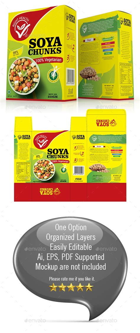 soy templates soya chunk packaging template by graphicgrow graphicriver