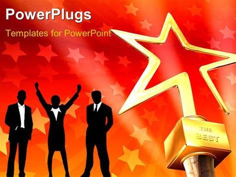 powerpoint templates for awards powerpoint template 3d gold star award on red stars