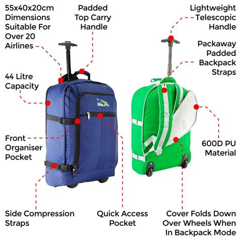 cabin trolley backpack cabin max lyon