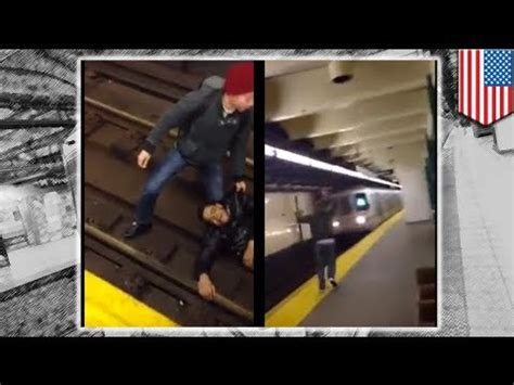 man run over by train: nyc subway train caught on camera