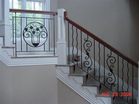 Stair: Classy Home Interior Design Using Black Wrought
