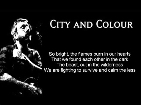 city and color lyrics city and colour we found each other in the lyrics