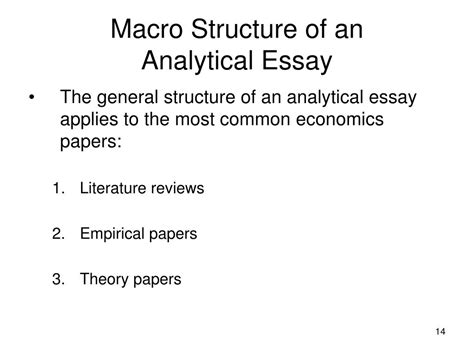Analytical Essay Structure by Ppt The Analytical Essay Powerpoint Presentation Id 159237