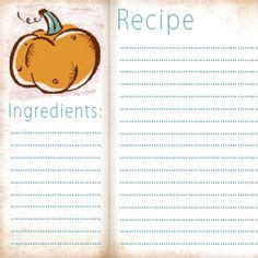 fall recipe cards templates classic 4x6 recipe card free printable classic