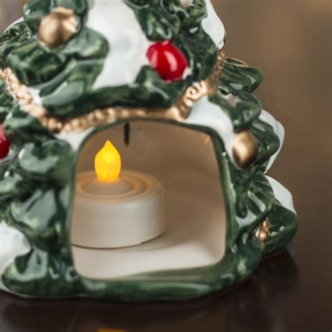 retro christmas tree tea light candle holder on sale