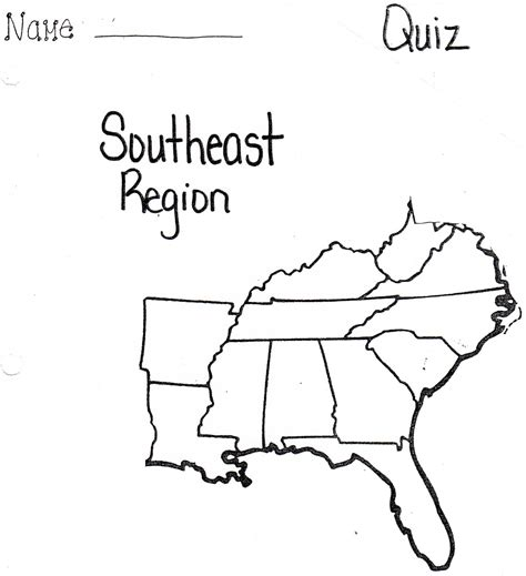 Printable Map Of The Southeast United States | southeast united states map blank printables blank