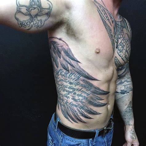 side rib tattoos for men top 100 best wing tattoos for designs that elevate